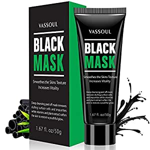Blackhead Remover Black Mask Deep Cleansing Peel off Mask Purifying Black Mask with Activated Charcoal by Bea Luz, Deep Pore Cleanse for Acne, Oil Control 50g