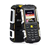 [Monther's Day Promotion] MANN ZUG S Rugged Mobile Phones 2'' IP67 Waterproof Shockproof Dustproof 2570mAh Battery Dual Sim Card GSM (Gold)