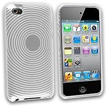 deinPhone–Carcasa para Ipod Touch 44G Case Funda Bumper Funda Carcasa Silicona Redondo Patrón en White transparente