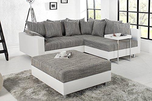 Ecksofa mit Schlaffunktion und Bettkasten für Gästezimmer. Platzsparendes Sofa.