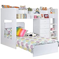 Flair Furniture kids wizard l shaped bunk bed in white