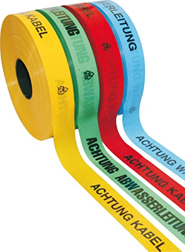 Format 4332163727682–trassen-warnband 250mtr. acht. -hochspannungskabel