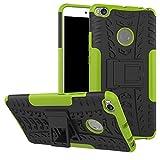 YHUISEN Xiaomi Mi Max 2 Case, Hyun Pattern Double couche d'armure hybride Kickstand Housse de protection 2 en 1 antichoc pour Xiaomi Mi Max 2 ( Color : Green )
