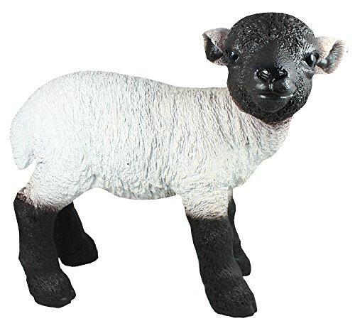 Colourliving® Figurine Rhön Mouton Statue de jardin figurine de mouton naturgetreu