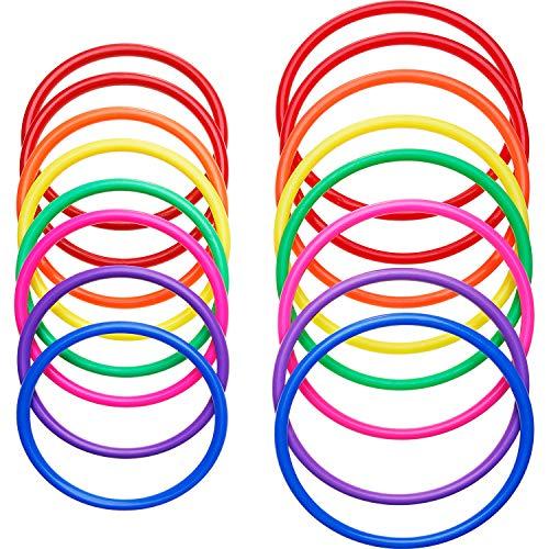Hestya 16 Piezas de Anillos de Lanzamiento de Plástico Juegos de Práctica...