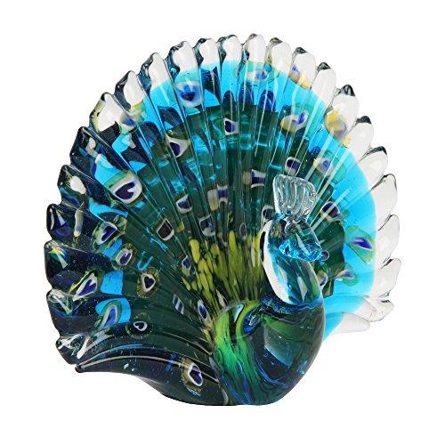 Animal de cristal pisapapeles–figura decorativa, diseño de pavo