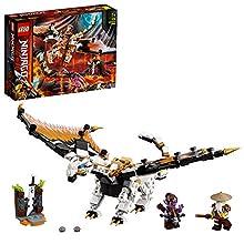 LEGO NINJAGO Dragone da battaglia di Wu, Playset con le minifigure di Master Wu e Gleck, 71718