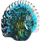 Animal de cristal pisapapeles–figura decorativa, diseño de pavo real