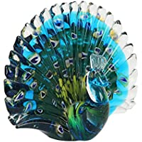 Juliana Objects d'art Glass - Pisapapeles de cristal, diseño de pavo real