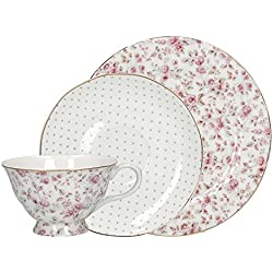Katie Alice Ditsy White Floral Fine Bone China Afternoon Tea Set