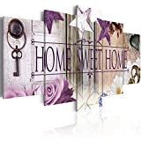 murando - Bilder 200x100 cm - Vlies Leinwandbild - 5 Teilig - Kunstdruck - modern - Wandbilder XXL - Wanddekoration - Design - Wand Bild - Home Blumen 020115-72