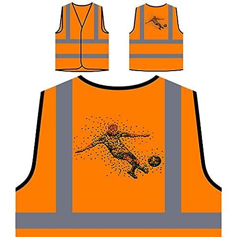 Joueur de foot dots art Veste de protection orange personnalisée à haute visibilité o47vo