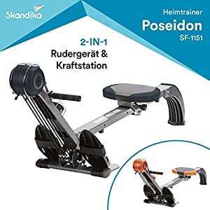skandika Rudergerät Regatta Multi Gym Poseidon, Geräusch-/Wartungsarmes...
