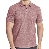 Men's Cotton Polo Shirts, Short Sleeve Athletic Golf Polo Shirts for Men Red