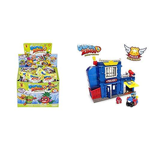 SuperZings Serie 3 Caja con 50 Figuras + Estación De Policía, con 2 exclusivas Figuras
