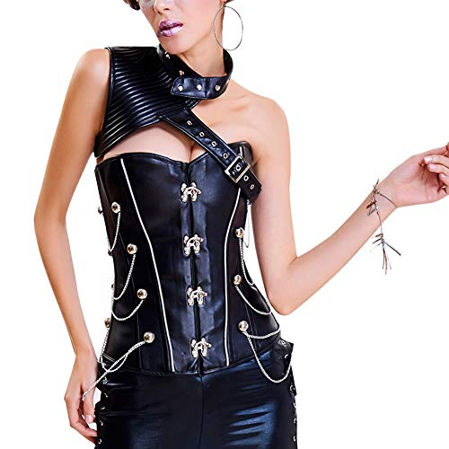 FeelinGirl Damen Korsett mit Stahlstäbchen - Brokatmuster