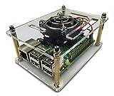 gorillapi supavent Serie V2Raspberry Pi 3& Raspberry Pi 2Fall Modell B (und B +) & Fan + Free Kühlkörper Stück enthalten-Selbst Montage-robust aus transparentem Kunststoff Raspberry Pi Fall bietet hervorragenden Schutz