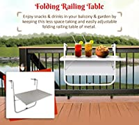 It is made of tough metal with powder coating on it to make them weather resistant and hence can be kept inside or outside your home. Folding tables are also great when there's not a lot of space to work with, this making them perfect for balconies. ...
