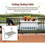 Wonderland Folding Balcony Table to Hang on Railing (Coffee Table, Outdoor Table, Portable Table, Rail Table)