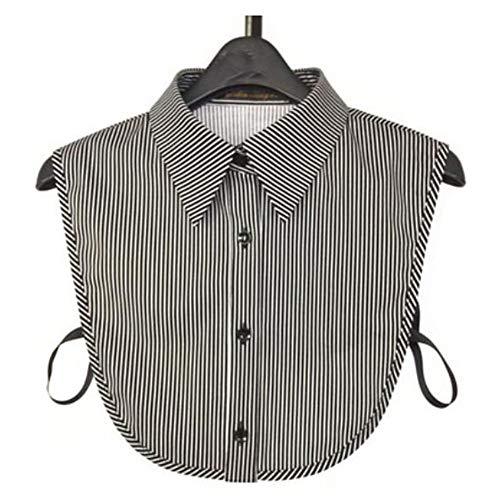 Black Temptation Art und Weise Baumwolle gestreiftes Hemd abnehmbarer Kragen-Fälschungs-Kragen Halbhemdkragen -