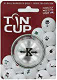 TIN CUP. GOLF BALL MARKER SYSTEM. ALPHA PLAYERS SERIES. LETTER K