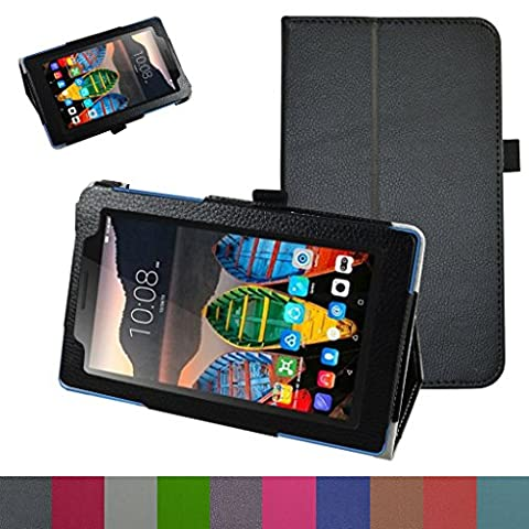 Lenovo TAB3 A7-10 / Tab 3 Essential Case,Mama Mouth PU Leather Folio 2-folding Stand Cover for 7