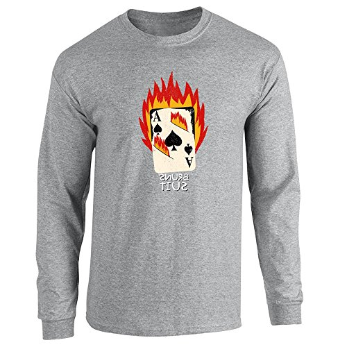 Pop Threads Herren T-Shirt Gr. Large, Grau - Sport Grey