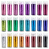 INGALA 24 Glitzer Farben Set für Basteln – extra feines