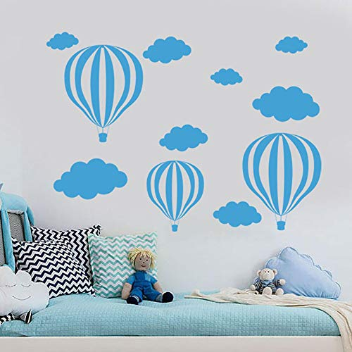Handwerker Air (WWYJN Hot Air Balloon Wall Decal Clouds Vinyl Nursery Wall Sticker Boys Baby Room Decor Home Removable Self Adhesive Wallpaper  78x57cm)