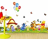 #2: The Splash Happy Animals Wall sticker (Multicolor, Wall Covering Area - 110(w) x 40(h) cm)