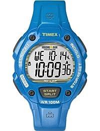 Timex T5K685SU - Reloj digital de cuarzo para hombre con correa de resina, color azul