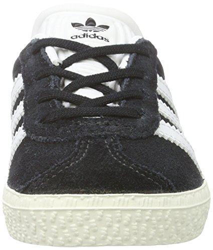 adidas Unisex-Kinder Gazelle Sneaker Schwarz (Core Black/Ftwr White/Gold Metallic)