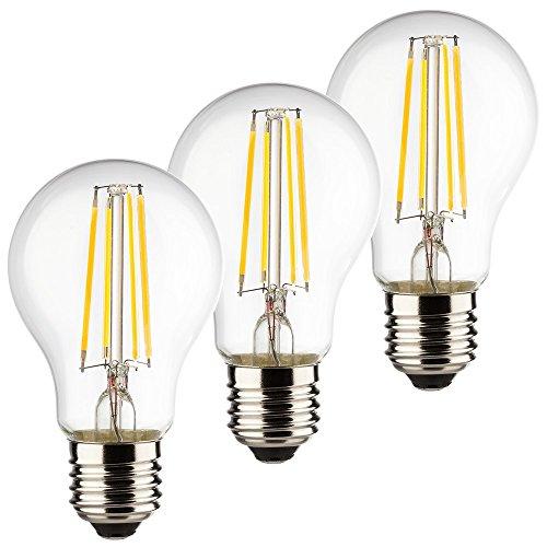 Classic-silber-3-licht (MÜLLER-LICHT 3er-Set Retro-LED Birnenform Ersetzt 40 W, Glas, E27, 4 W, Silber, 6 x 6 x 10.6 cm, 3 Einheiten)