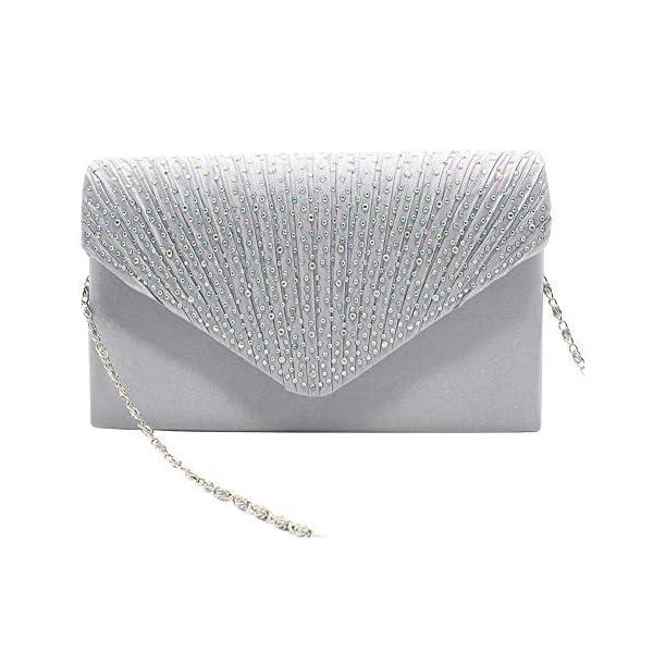 51sj4zlrTxL. SS600  - 1PC del Rhinestone del bolso de embrague de cristal brillante de la tarde del sobre del bolso del monedero del bolso…
