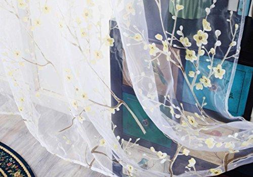 Bronze Groß Outdoor Wand Laterne (zycshang Hohe Qualität Romantische Fashion Plum Blossom Gardinen Solide Farbe Fenster Behandlung Platten Tür Tuch Modern gelb)