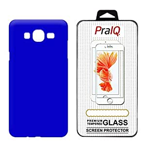 PraIQ Hard Back Case with Tempered Glass For Samsung Galaxy J5 - Blue