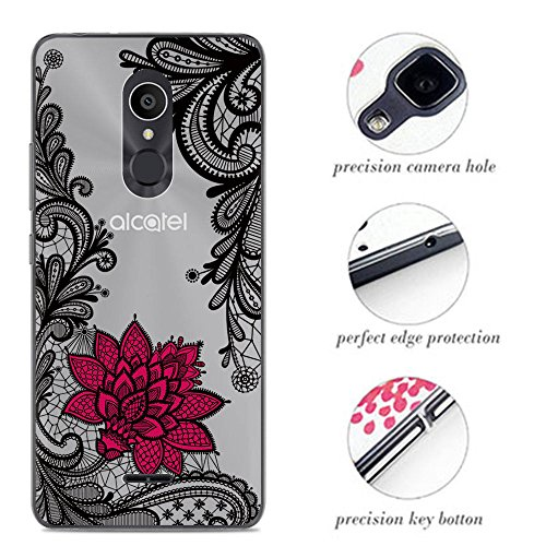 Venga amigos Hülle für Alcatel 3C Handyhülle Silikon für Alcatel 3C Schutzhülle TPU Case Backcover Bumper Slim Cover