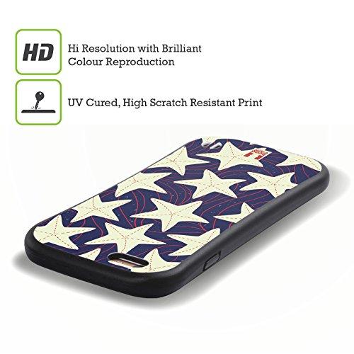 Head Case Designs Boot Marine Muster Hybrid Hülle für Apple iPhone 5 / 5s / SE Weisser Seestern