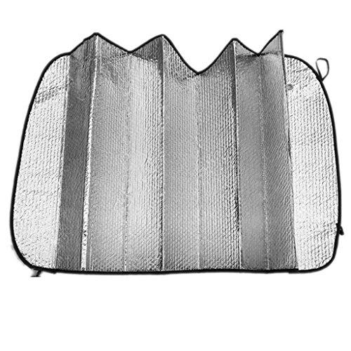 Pieghevole-Parabrezza-Parasole-Crema-Solare-Riflettente-Copertura-Cover-Auto-Visiera-Argento