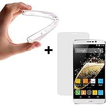 BeScreen - Funda Gel Flexible Zopo Speed 7 ZP951 [ +1 Protector Cristal Vidrio Templado ] Carcasa Case Silicona TPU Suave