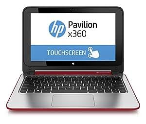 """HP Pavilion x360 11-n025nf PC portable Tactile 11,6"""" Rouge (Intel Celeron, 4 Go de RAM, Disque dur 500 Go, Windows 8.1)"""