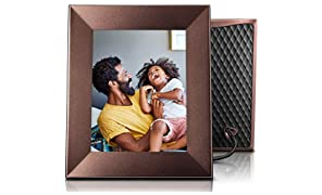 Nixplay Iris 8 Inch Smart Photo Frame W08E Burnished Bronze - WiFi Picture Frame with IPS Display, Motion Sensor and 10GB Online Storage, Display and Share Photos with Friends via Nixplay Mobile App