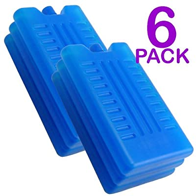 Freezer Blocks - Use With a Cool Bag For Added Cooling - Cools & Keeps Food Fresh (Pack of 6)