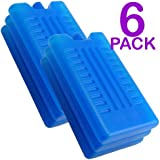 Pack of 3/6 - Freezer Blocks - Use With a Cool Bag For Added Cooling - Cools & Keeps Food Fresh