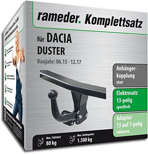 duster anhaengerkupplung Rameder Komplettsatz, Anhängerkupplung starr + 13pol Elektrik für Dacia Duster (121989-08547-2)