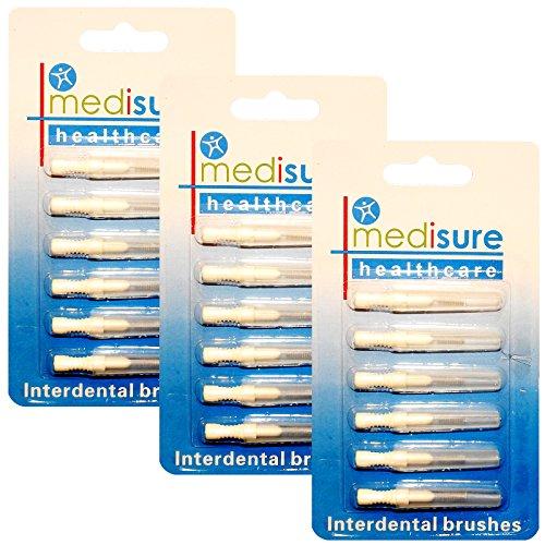 Medisure Healthcare Interdentalbürsten + Brush Guards, Multi Pack verschiedenen Größen–3Pack (18Bürsten)