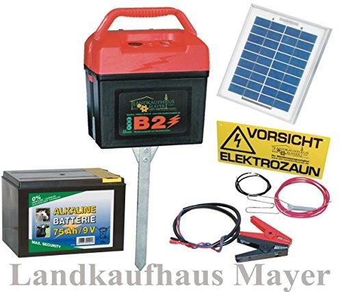 *Weidezaungerät 9V 12V 230V inkl. Batterie und SOLARMODUL!!! Weidezaun*