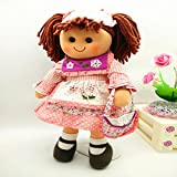 17 Inch Stuffed Fashion Rag Doll Toy Soft Pink Doll For Girls Soft Pink Doll Kids Machine Washable
