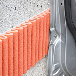 Bumper for Walls (Car Door Protection), Auto-Adhesive Foam, Protective Padding for Any Surface in the Office or HomeGeneral usage: on garage walls so it won't damage the car doors.Each kit contains 2 strips ≈ 1.4 m x 17 cm.Colour: orange.