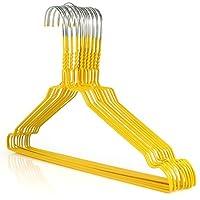 HANGERWORLD Plastic Coated Wire Hangers 2.3mm Galvanised approx. 40cm Wide Hang